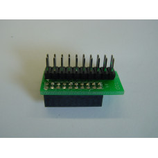 2mm to 2.54mm Adapter, 20 Pin, Left Aligned