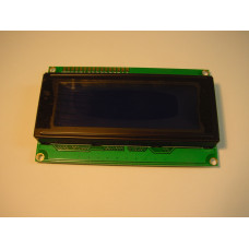 20x4 White on blue LCD
