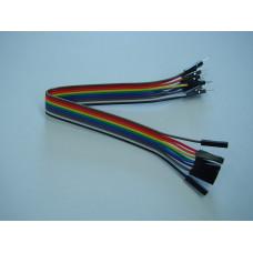 Jumper Cables M-F, 20cm, 10 pcs.